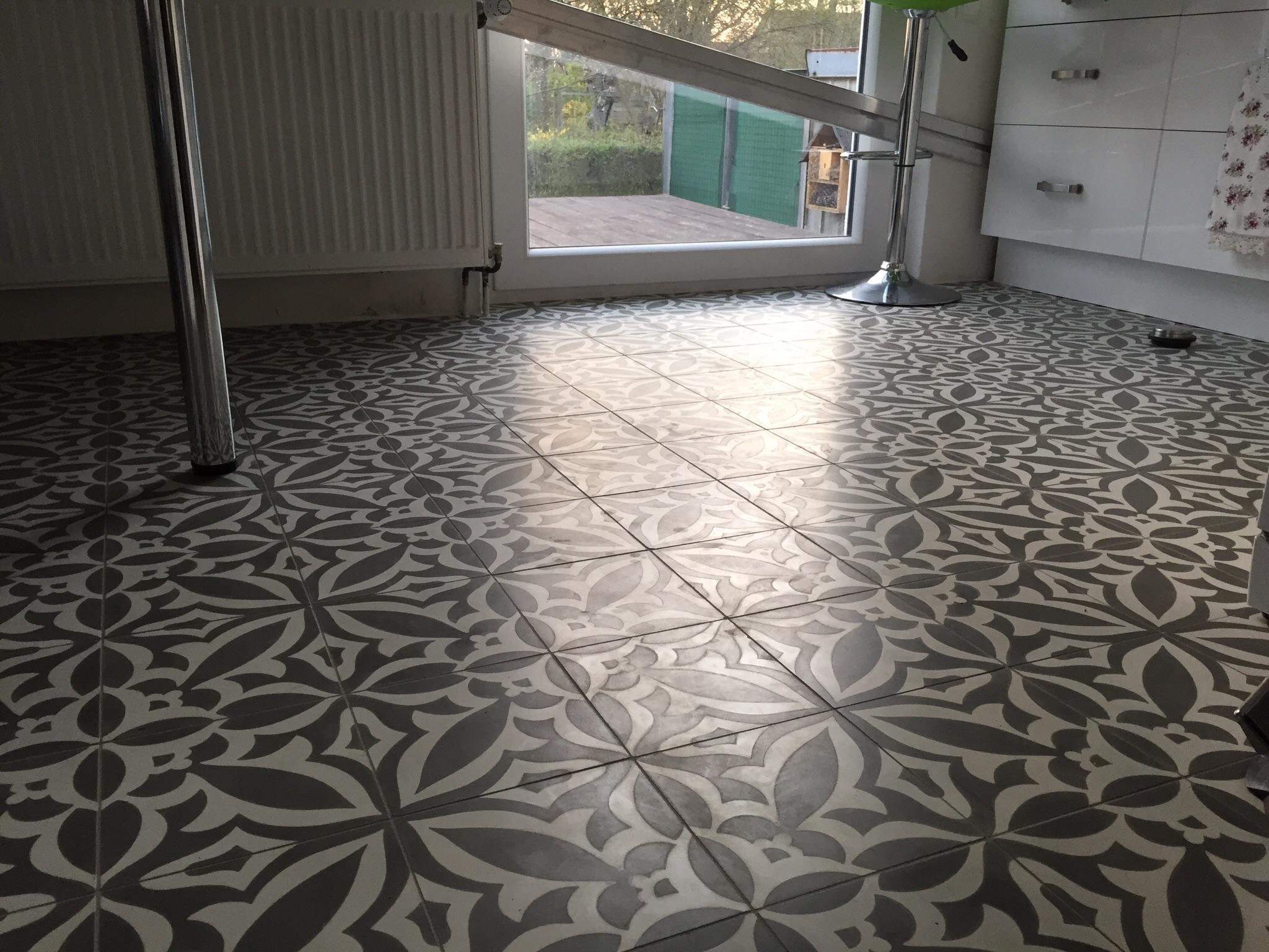 Zementfliesen In Der Küche Keramik Loft Gmbh Der