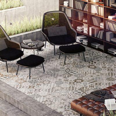 Dekor patchwork warm 60x60_flaeche